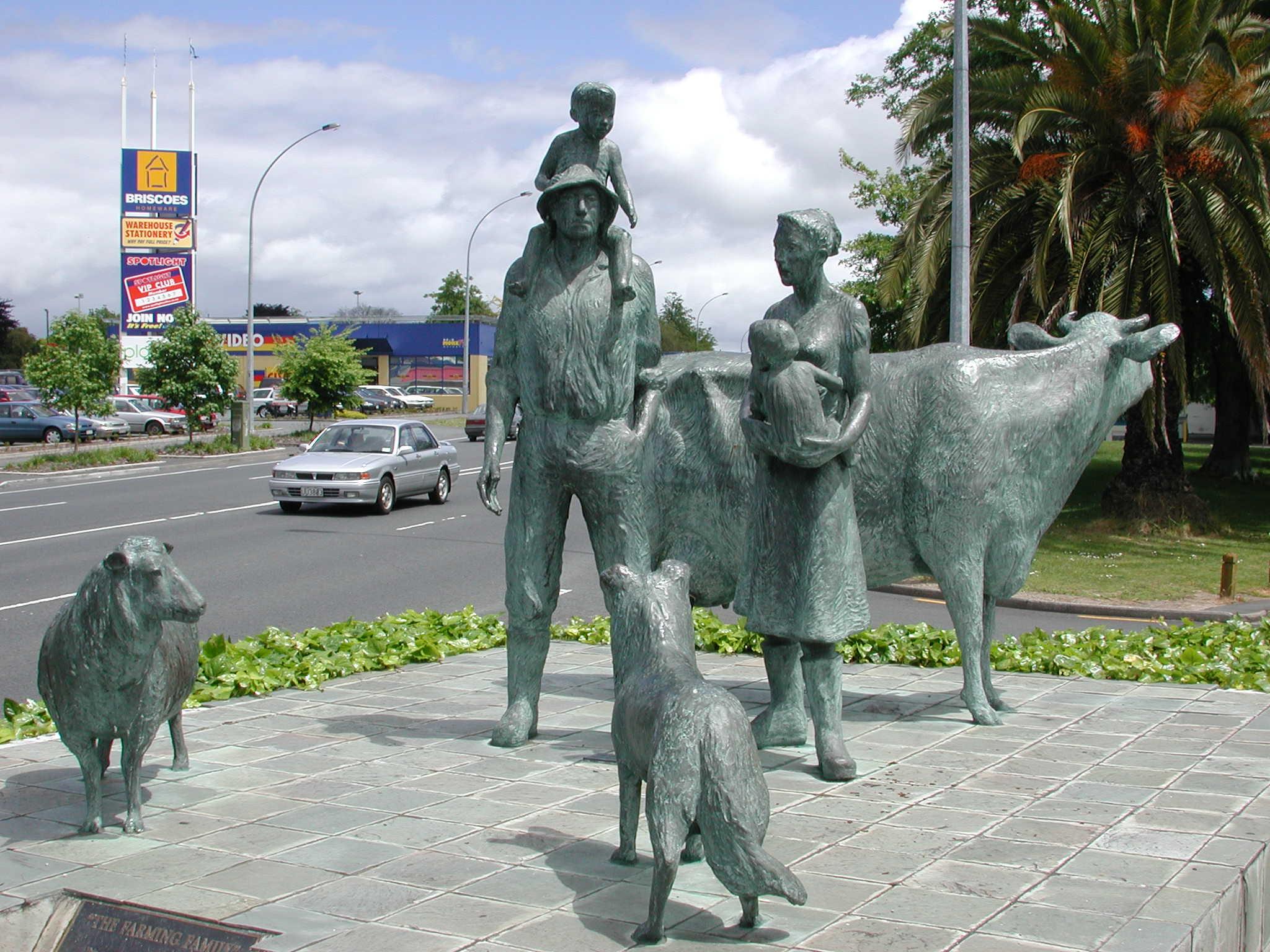 Family Farming Sculpture